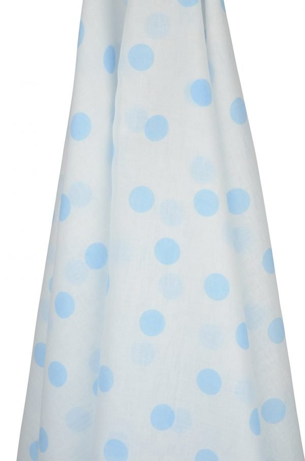 Blue Spotted Muslin Wrap for Hey Baby Gift Hamper the Petal Provedore Melbourne