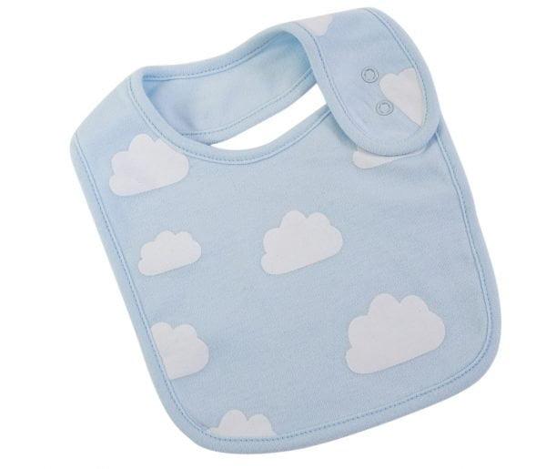 Blue Cloud Baby Bib. The Petal Provedore. Melbourne.