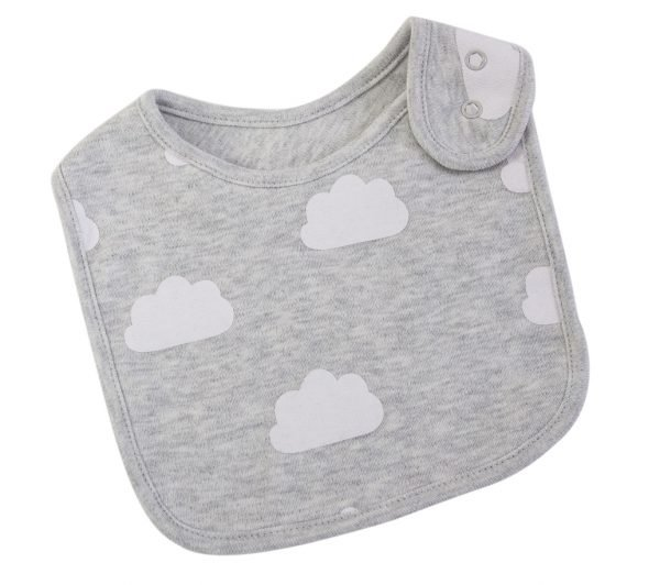 Grey Cloud Baby Bib. The Petal Provedore. Melbourne.
