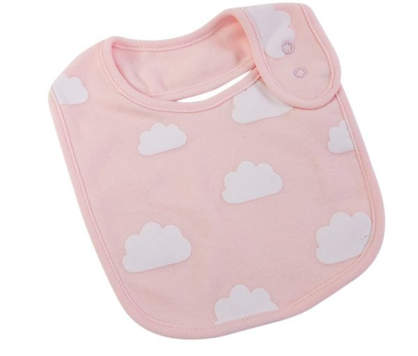 Pink cloud Baby Bib. The Petal Provedore. Melbourne