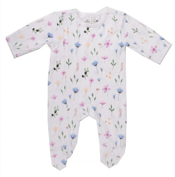 Fleur Organic Cotton Baby Jumpsuit. The Petal Provedore. Melbourne.
