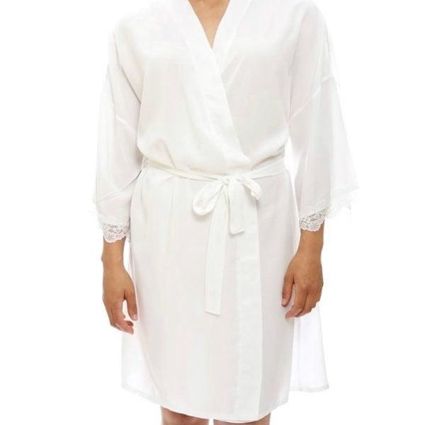 White Posy Bridal Robe. The Petal Provedore.Melbourne
