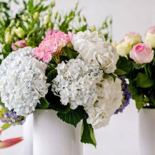 Flower Subscription. The glass (vase) is definitely half full!